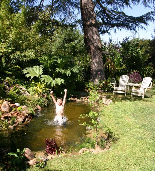 Backyard Water Features For Small Yards :  yard natural backyard water feature pond waterfall pond water features