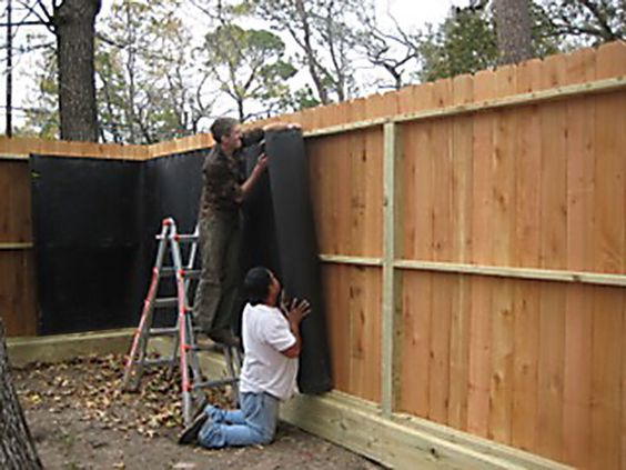 Soundproofing Solutions Using Acoustifence Material Photo Gallery Backyard Fences Fence Design Sound Proofing