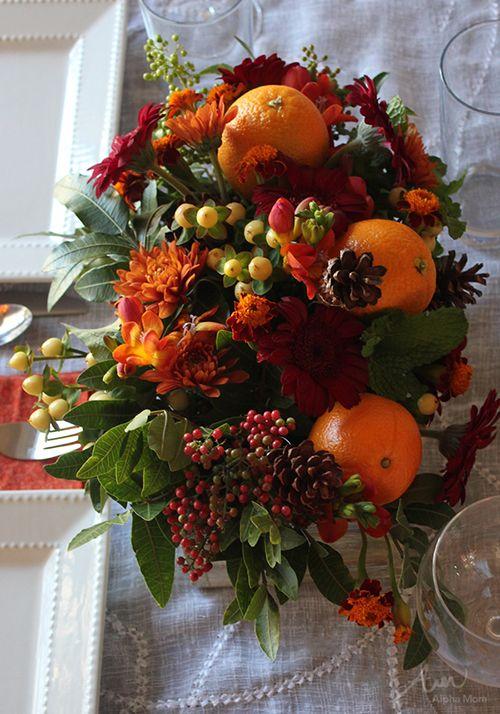 Thanksgiving flower arrangement diy