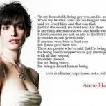 marriage #equality #annehathaway