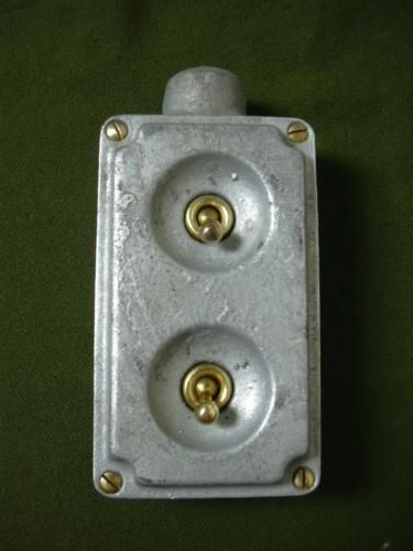 Vintage Industrial Light Switch Factory Antique Cast Iron