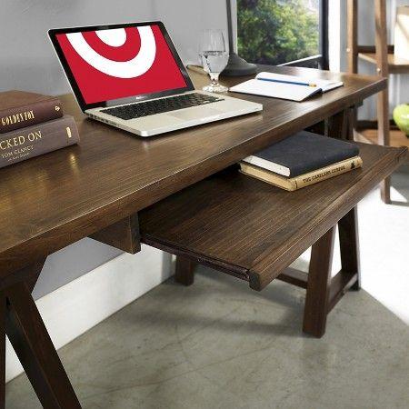 Sawhorse Desk Medium Saddle Brown - Simpli Home : Target