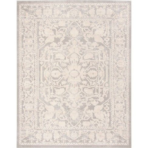 Danika Floral Loomed Accent Rug Safavieh Grey And Cream Rug Light Grey Area Rug Polyester Rugs