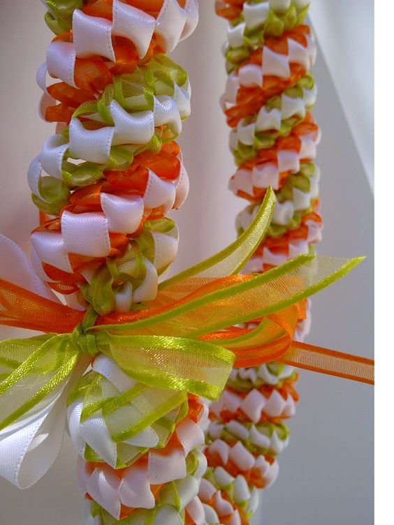 LoveLeis. Handmade ribbon leis perfect for the guest of honor, graduates and weddings.