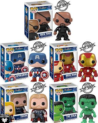 Pop vinyl figures from The Avengers.. need these in my life.  Might be a huge nerd.