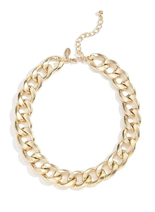 Gold-Tone Chunky Chain Necklace