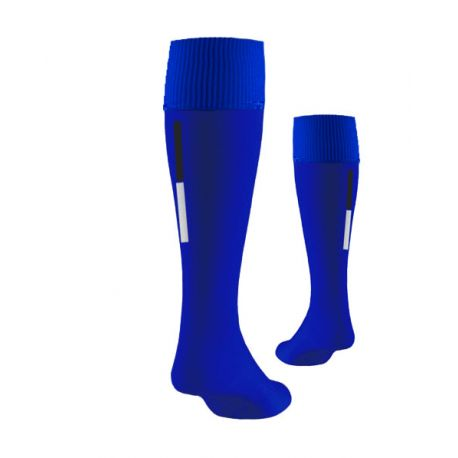One-line Blau Trainingssocken - 90% Nylon -10% Elesthan - Knielänge