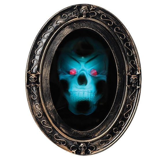 Motion Sensor Haunted Mirror Scream scene! Scary skull demon appears in motion-activated mirror. AvonRep shirlean walker