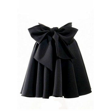 Black skirt with BIG bow