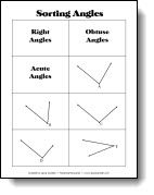 Free Angle Sorting Cards for cooperative learning activities to review types of angles