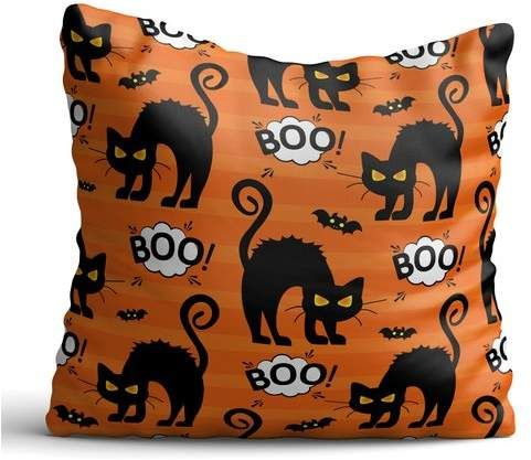 The Holiday Aisle Everette Black Cats And Bats Throw Pillow Pillow Throw Type Halloween Throw Pillow Fall Throw Pillows Halloween Pillows