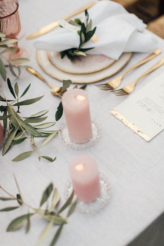 Blush Pink & Gold Formal wedding