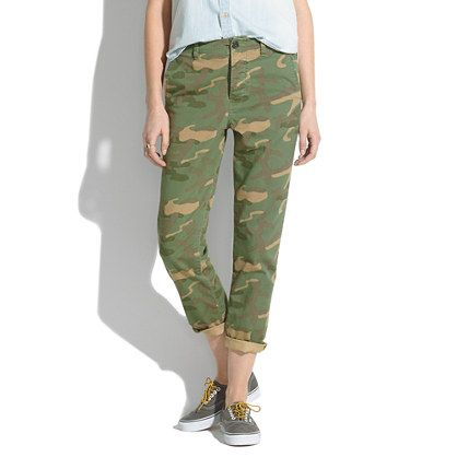 Cropped Rivington Trousers in Camo - pants - Women's PANTS & SHORTS - Madewell