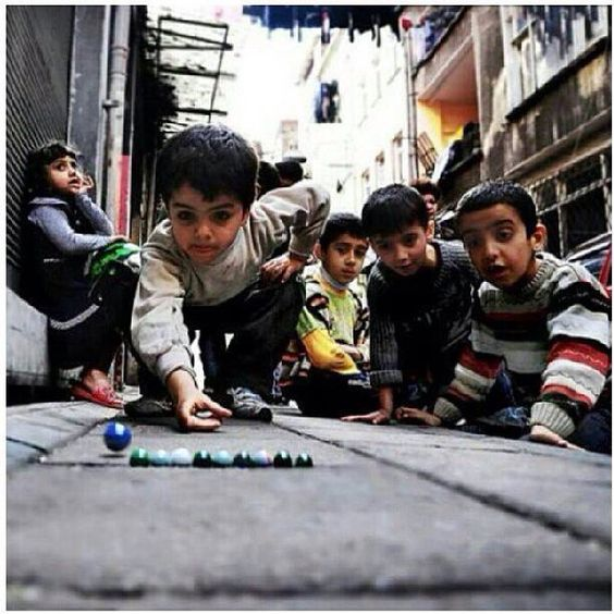 Playing marbles  Gaza