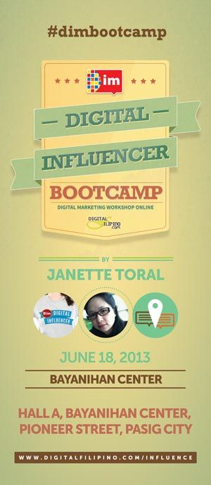 Manila: Digital Influencers Boot Camp Face to Face Session: Bayanihan Center  Social Media Social Media Philippines Blogging Community Manila Activities Brand Management #dimbootcamp