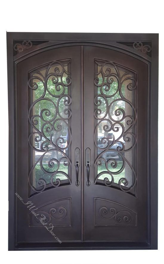 Tuscany Custom Square And Eyebrow Top Iron Doors With Images