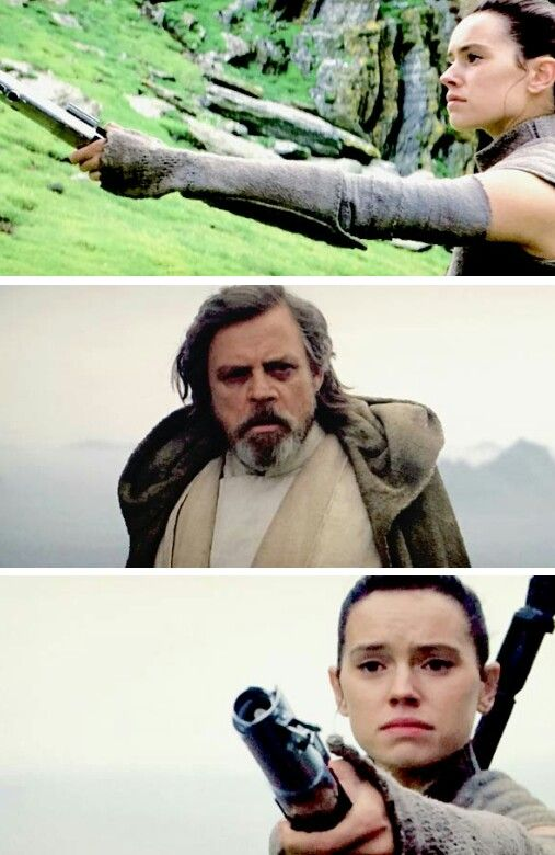rey and luke meet