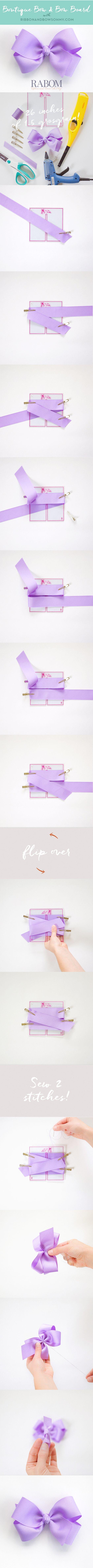 Boutique Bow Quick Tutorial with RABOM! ribbonandbowsohmy.com