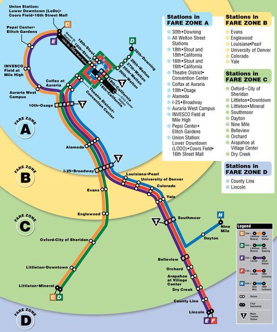 Denver Light Rail Map - Mapsof.net