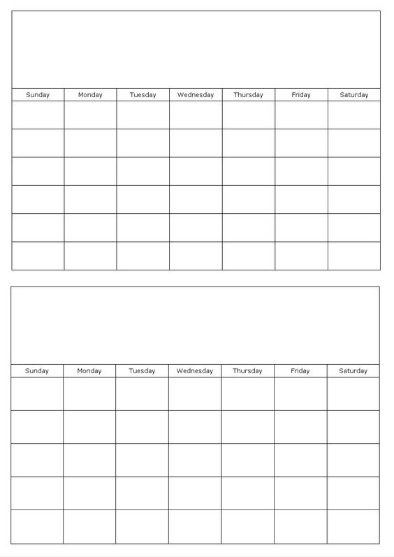Calendar Templates | * Printables, Papers, Planners, Organizers ...