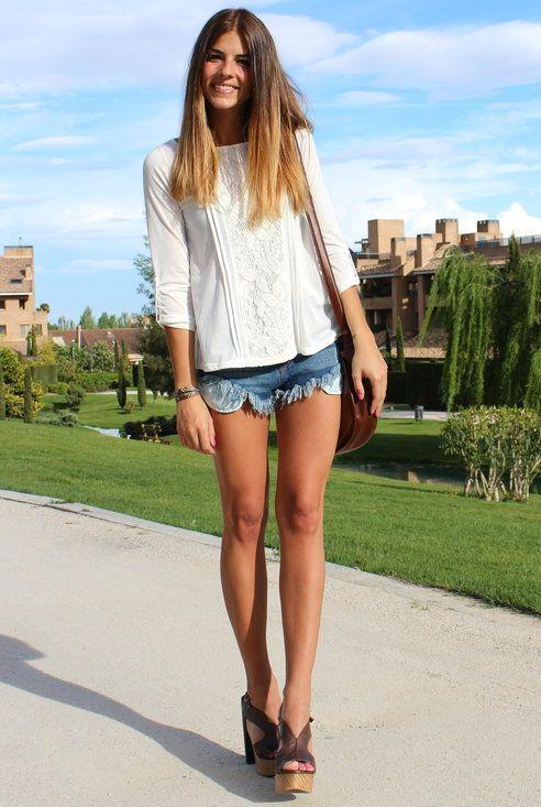 shorts & blouse