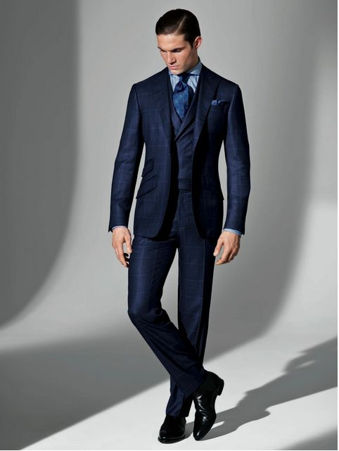 Pnineas Cole Spring 2013. Blue plaid Italian wool/cashmere/silk