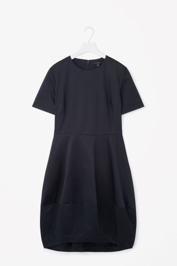 Dress with cocoon skirt