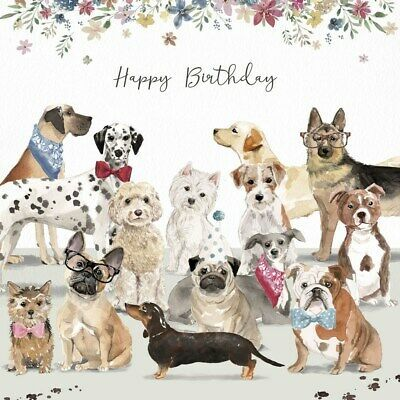 Dog Lovers Luxury Glitter Birthday Greeting Card Pug Bulldog Westie Retriever Ebay Happy Birthday Cat Animated Birthday Greetings Dog Lovers Birthday