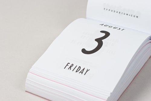 Calendário tipográfico.