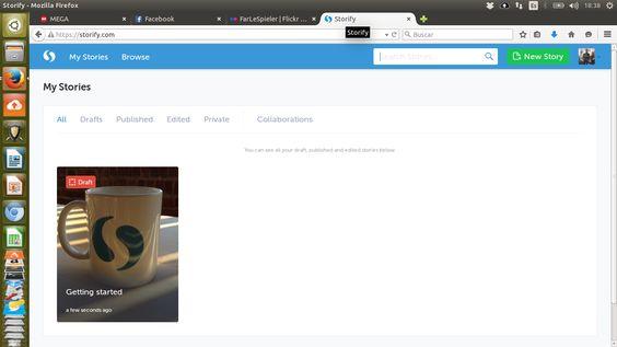 red social de historias-Storify