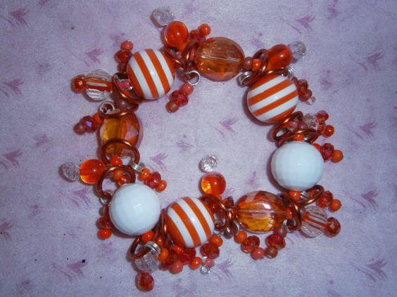 Cruise bracelet/ Orange bracelet by beadiebracelet on Etsy