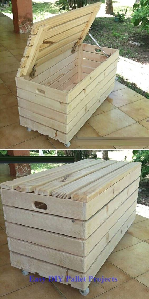 42 Awesome DIY Pallet Project Ideas For Your Home #diy #diypallet #palletfurniture #pallet #palletproject – My Ideas