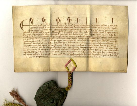 Licence in Mortmain of Edward III regarding the Advowson of Long Benton, 1366
