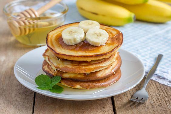 Bananen-Pancakes ohne Zucker