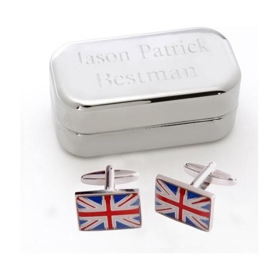 New Dashing Cufflinks with Personalized Case
