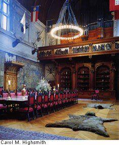 Bear rug in the dining room of the Biltmore Estate | Biltmore ...