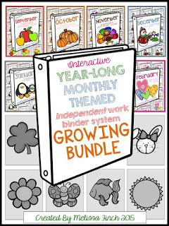 Binder tasks for the entire year.  special education program or autism program teacch tasks