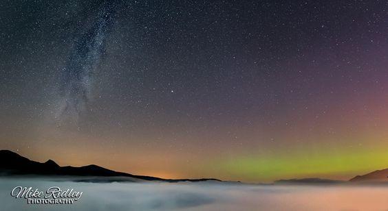 Derwentwater aurora & milky way
