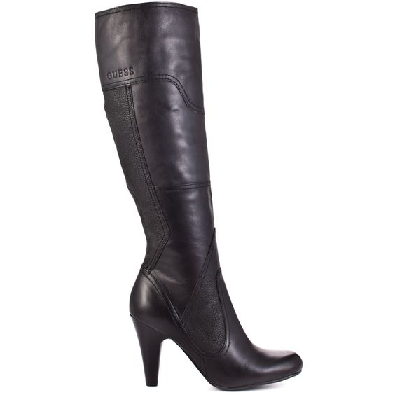 You'll be free and fabulous in this gorgeous Guess style.  Pozina showcases a black suede and leather patchwork upper with a 3 1/2 inch heel.  The inside zipper make this an easy boot to put on and can pair well with any outfit ensemble.
