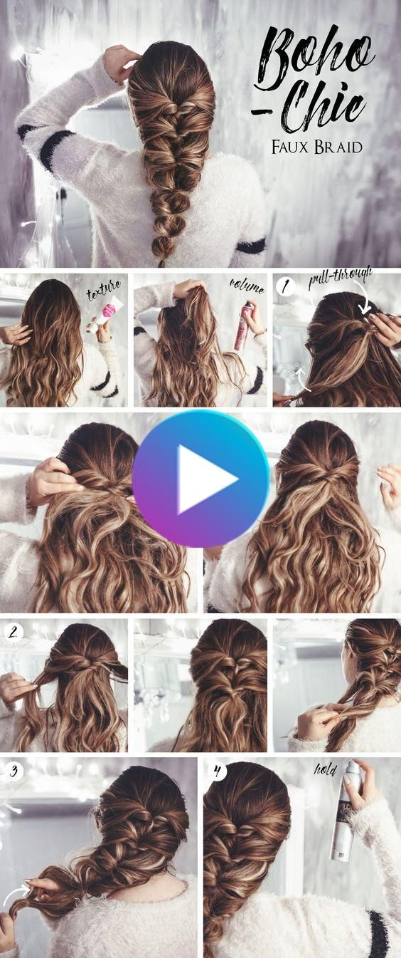 14 Stylish Easy Hairstyles Step By Step Diy In 2020 Hair Styles Faux Braids Easy Hairstyles