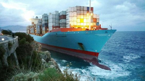 A 366-meter-long Maersk Line containership ran aground early - cargo ship security officer sample resume