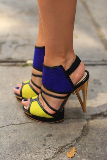 How to Wear a Statement Necklace | Yellow high heels, Across the ...
