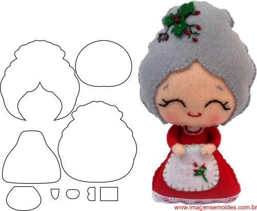 Moldes para adornos navidenos para imprimir