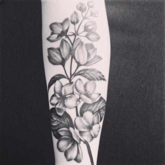 My jasmine flower tattoo!