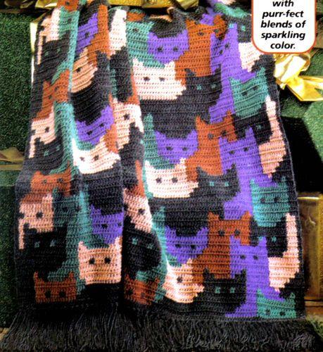 PURR-FECT Cats Afghan/Crochet Pattern Instructions