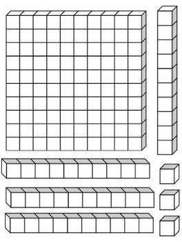 Common Worksheets free place value coloring worksheets : Hundreds, Tens and Ones Place Value Blocks | Matemática ...