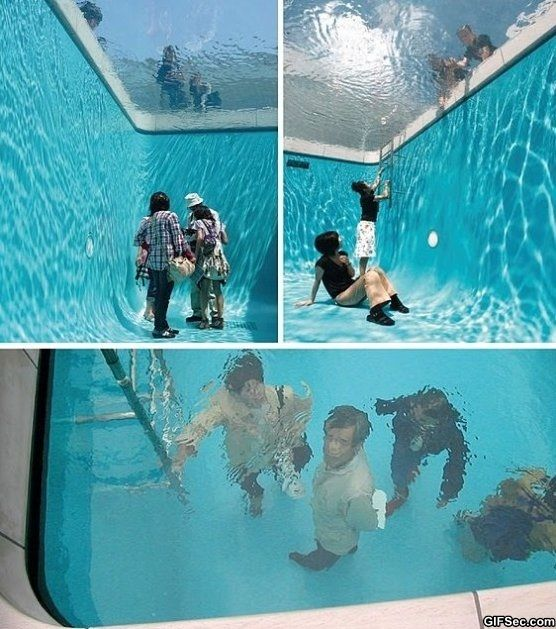 So Cool Swimming Pool Meme Funny Humor Glass See Through Fake Swimming Pool Funnies