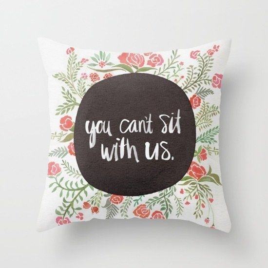 Cheeky, semi-adult throw pillows on your seating area.