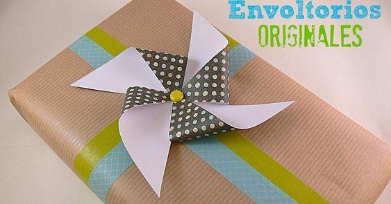 Envoltorios de regalo f ciles y originales manualidades - Manualidades originales y faciles ...