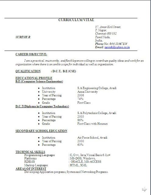 blank resume format pdf free download for freshers electronics